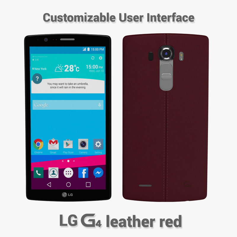 3d model lg g4 leather
