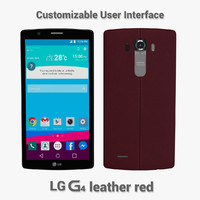 3d model lg g4 leather