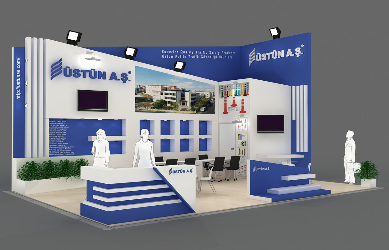 Exhibition Stand 3d Model Sketchup : Fair stand exhibition d model