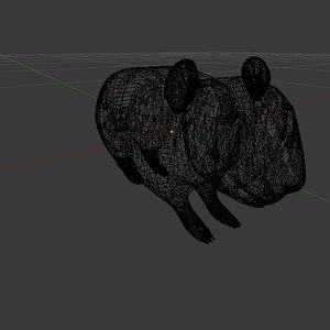 3d model animal hamster