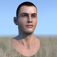male head realtime res 3d max