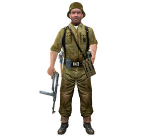 3ds wwii german soldier