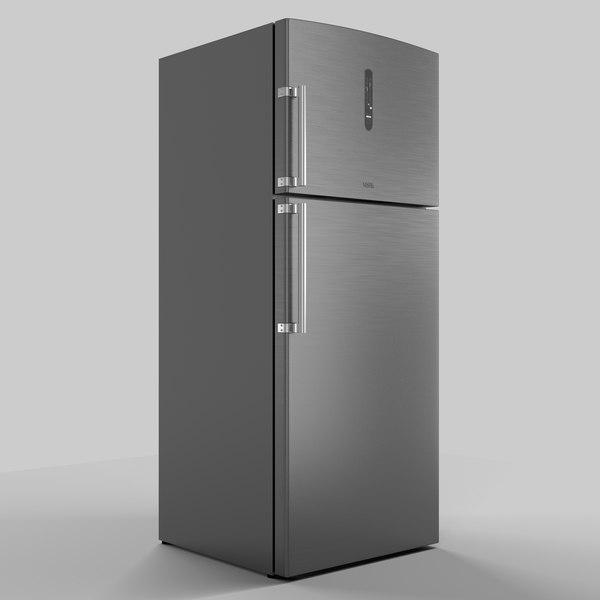 refrigerator vestel 3d c4d