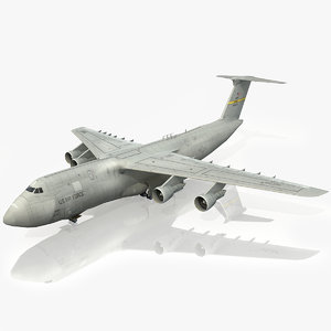 3d model lockheed c-5 galaxy usaf