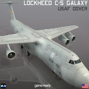 3d model lockheed c-5 galaxy usaf