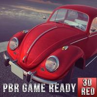 3d volkswagen beetle car ready model