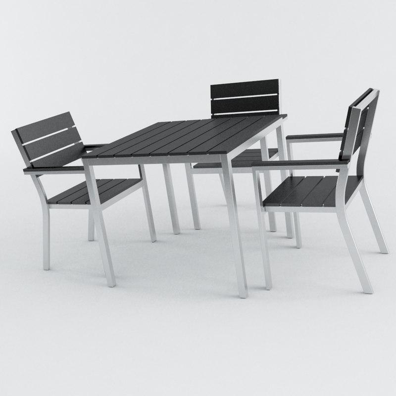 3d modern patio terrace