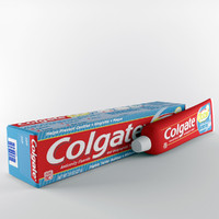 3d model colgate tooth paste
