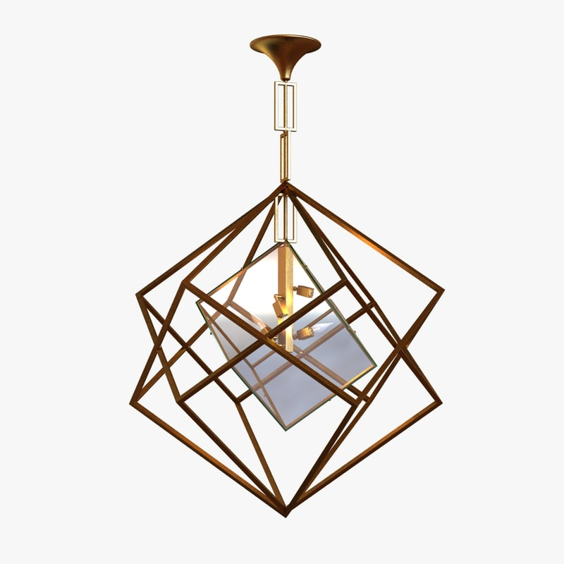 3d lamp light cubic chandelier