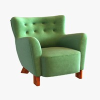 3d 3ds fritz hansen easy chair
