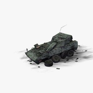 wrecked armored vehicle 3D model