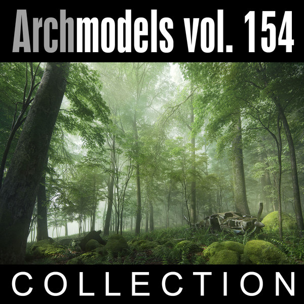 3d model of archmodels vol 154 plants trees