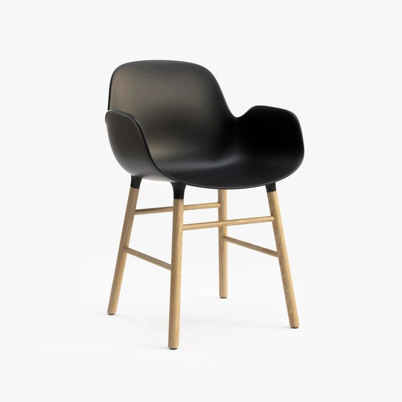 3d Model Form Armchair Normann Copenhagen