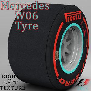 3d model pirelli tyre w06