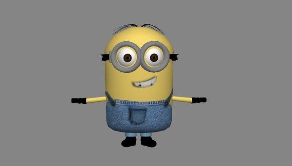 3d model minion character