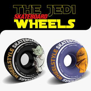 3d skateboard wheels