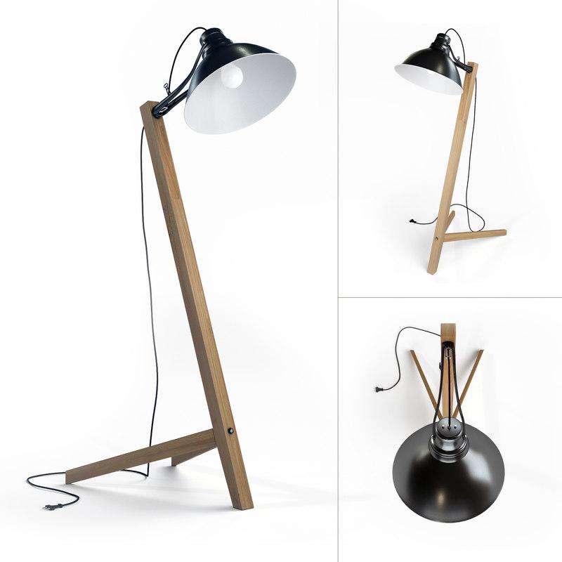 3ds max scandinavian floor lamp