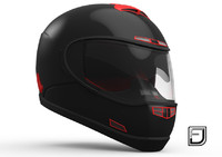 Black And Red Helmet H07