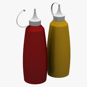 3d model of sauce bottle