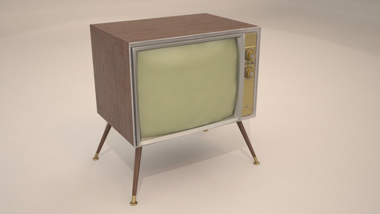 3d model old tv