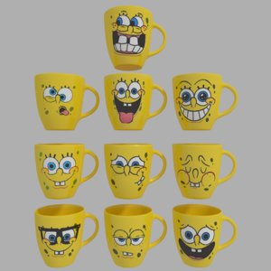 free cups spongebob 3d model