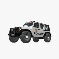 Jeep Wrangler Police SUV
