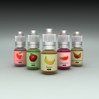 3D Eliquid Bottles Set