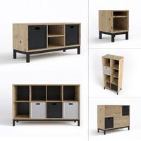 3d scandinavian furniture set