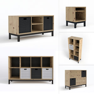 3d scandinavian furniture set