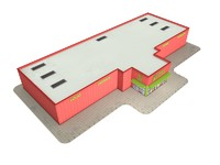 3d model of supermarket store