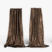 silk curtains 3d model
