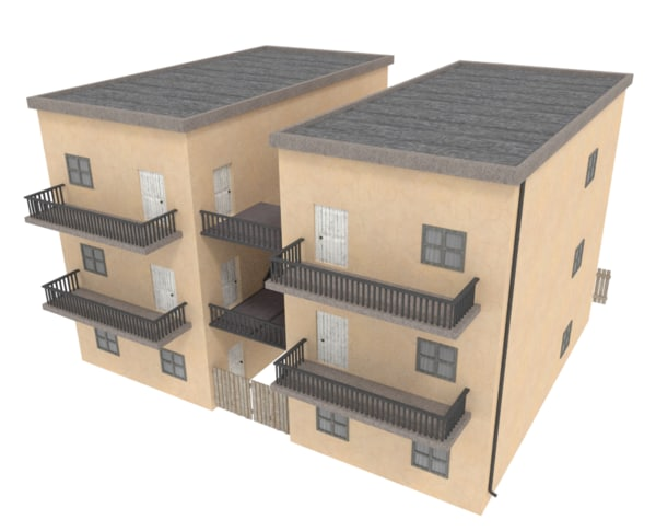 3d model house city