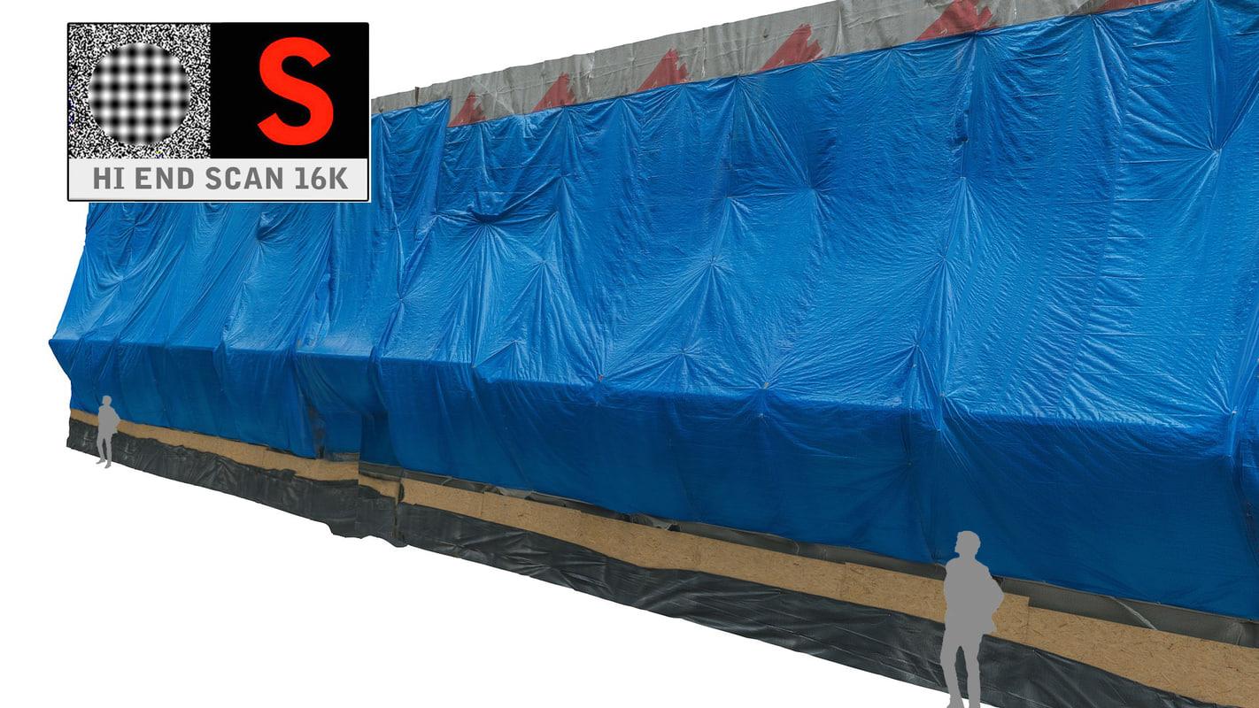 tarpaulin building scanned 3d model