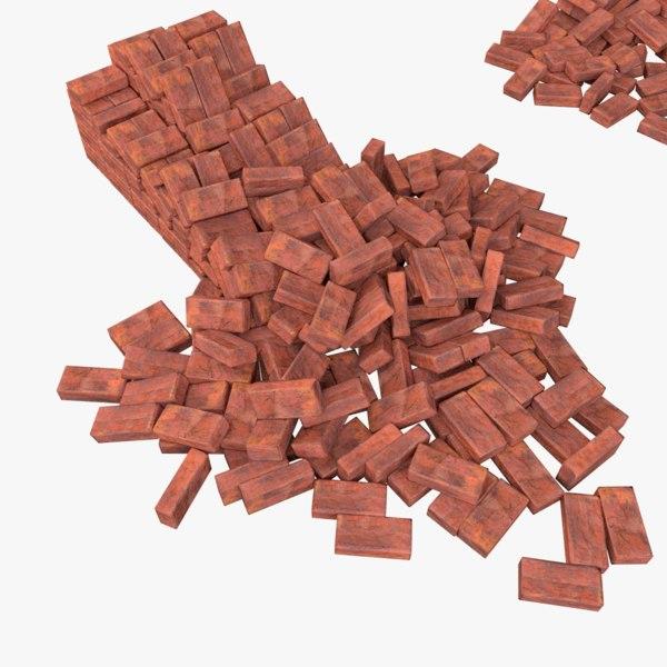 3d model bricks pack