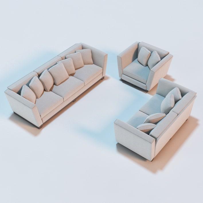 3d model eckard sofa