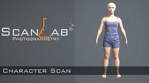 3ds max amanda female body scan