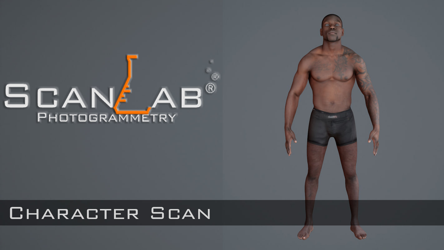 3d fbx male body scan -
