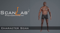 Realistic Human Man Scan and Rig - 018MBody 4096