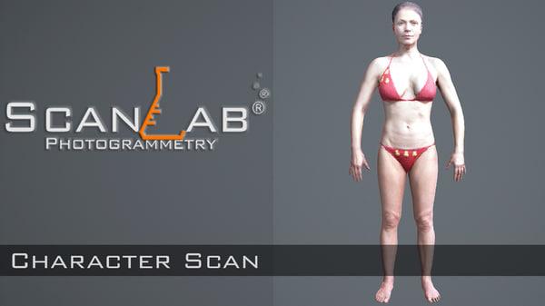 fbx sharon female body scan