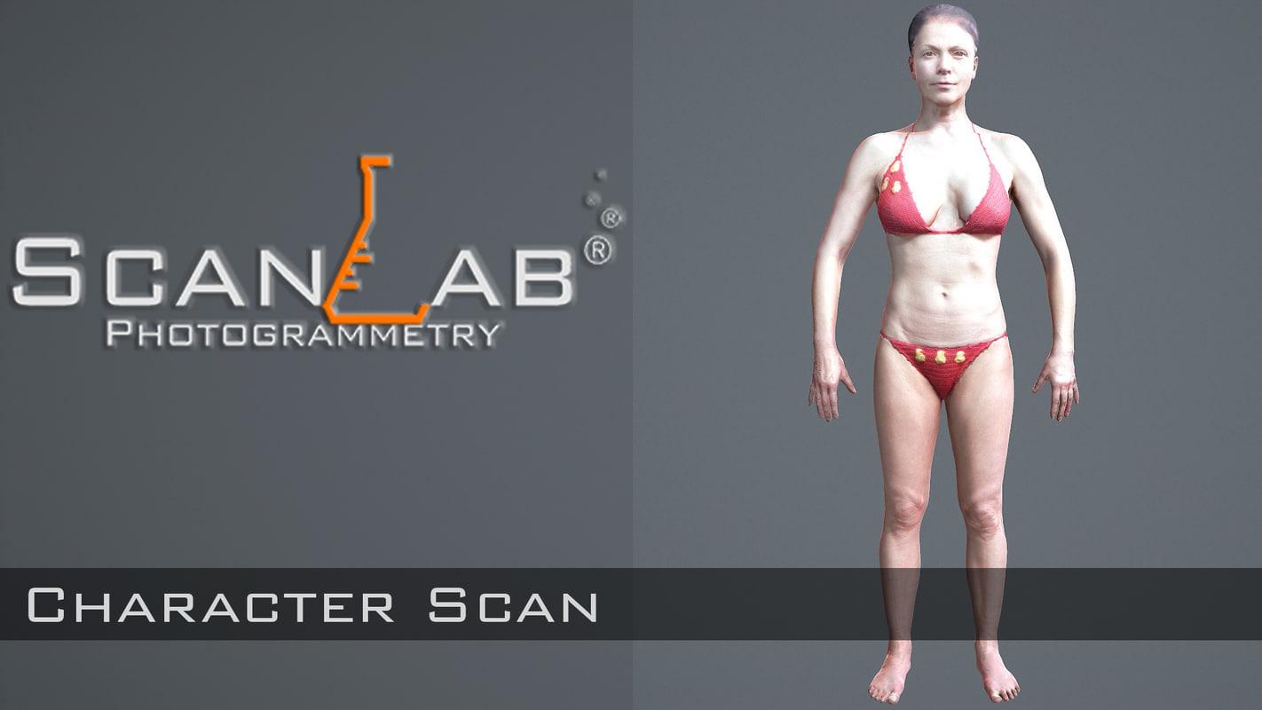 sharon female body scan 3d model