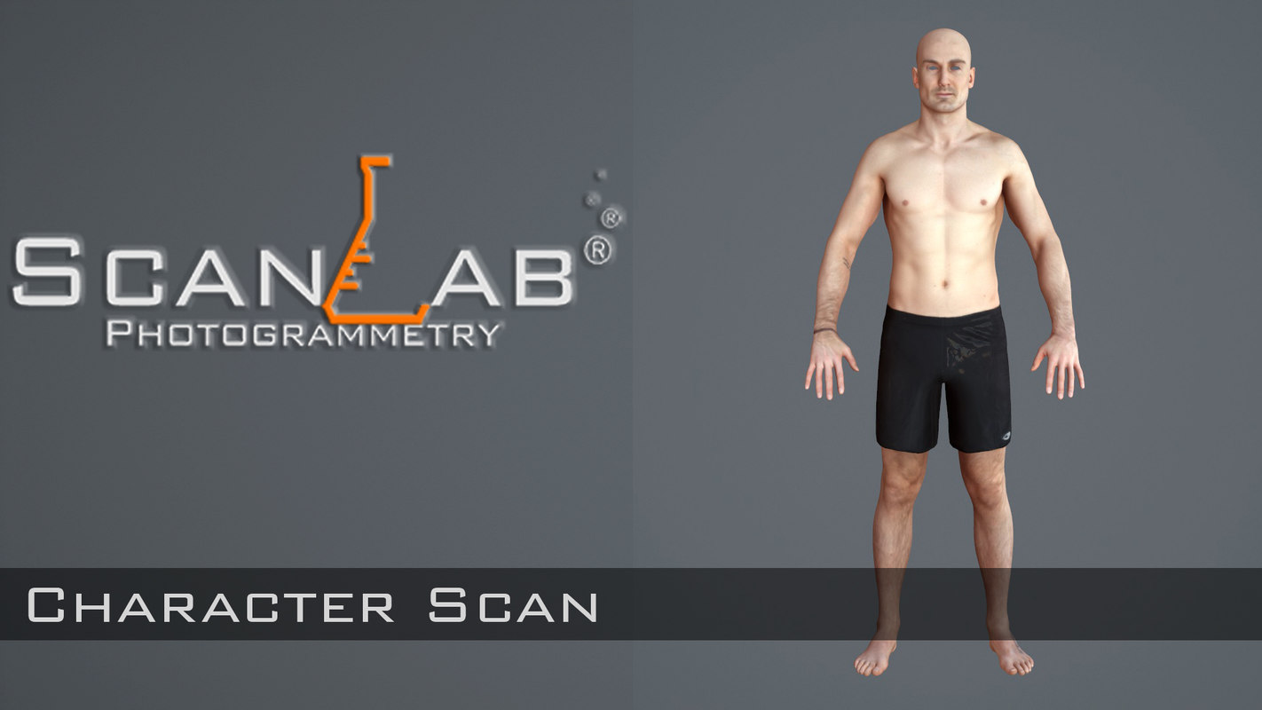 3d model of male body avatar scan