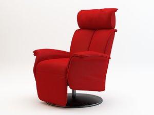 chair armchair arm 3d model
