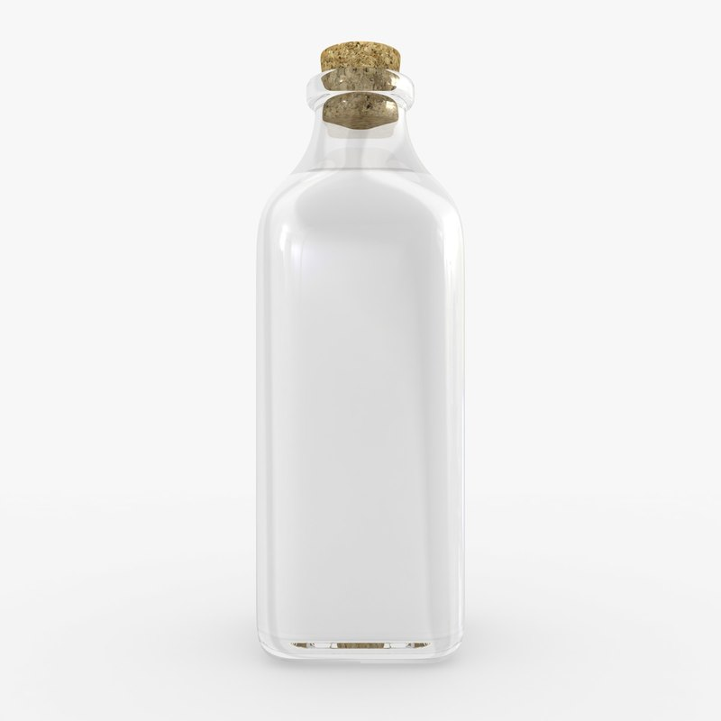 milk bottle 3d 3ds