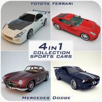 sports cars 1 ferrari 3d model