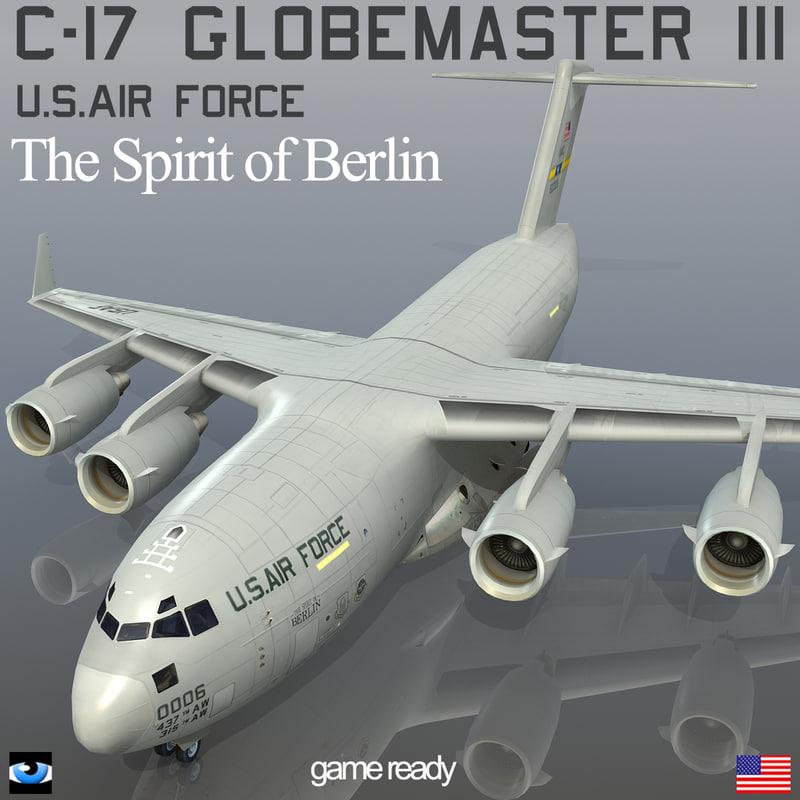 3dsmax c-17 globemaster iii