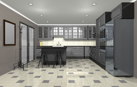 c4d colonial kitchen oven