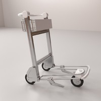 airport trolley 3d 3ds