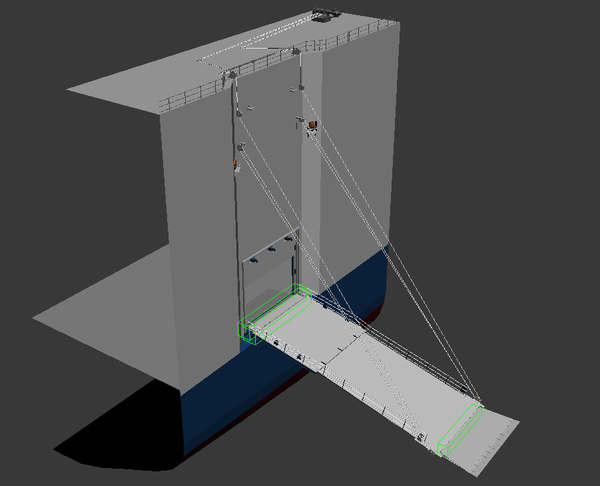 3d model of ramp door center
