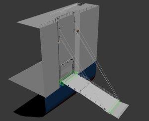 3d model of ramp door center