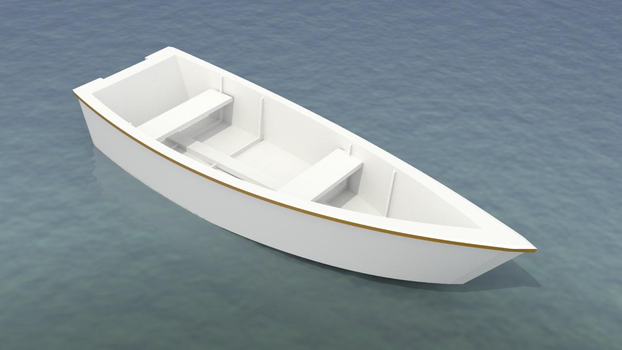 3d boat modeled